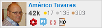 profile for Américo Tavares on Stack Exchange, a network of free, community-driven Q&A sites