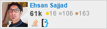 profile for Ehsan Sajjad on Stack Exchange, a network of free, community-driven Q&A sites