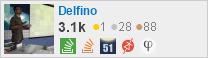 perfil de Delfino no Stack Exchange, uma rede gratuita de sites de perguntas e respostas orientadas à comunidade
