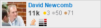 profile for David Newcomb on Stack Exchange, a network of free, community-driven Q&A sites