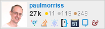 profile for paulmorriss on Stack Exchange, a network of free, community-driven Q&A sites