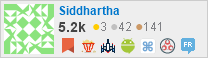 profile for Siddhartha on Stack Exchange, a network of free, community-driven Q&A sites