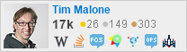 profile for Tim Malone on Stack Exchange, a network of free, community-driven Q&A sites