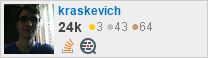 profile for kraskevich on Stack Exchange, a network of free, community-driven Q&A sites