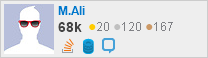 profile for M.Ali on Stack Exchange, a network of free, community-driven Q&A sites