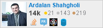profile for Ardalan Shahgholi on Stack Exchange, a network of free, community-driven Q&A sites