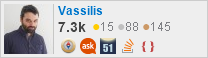 profile for Vassilis on Stack Exchange, a network of free, community-driven Q&A sites