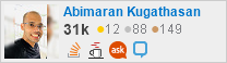 profile for Kugathasan Abimaran on Stack Exchange, a network of free, community-driven Q&A sites