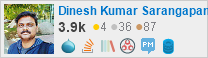 profile for Dinesh Kumar on Stack Exchange, a network of free, community-driven Q&A sites