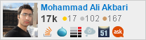 profile for Mohammad Ali Akbari on Stack Exchange, a network of free, community-driven Q&A sites