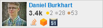 profile for Daniel Burkhart on Stack Exchange, a network of free, community-driven Q&A sites