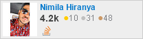 profile for Nimila Hiranya on Stack Exchange, a network of free, community-driven Q&A sites