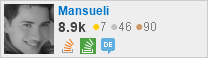 profile for Mansueli on Stack Exchange, a network of free, community-driven Q&A sites