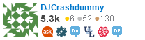 profile for DJCrashdummy on Stack Exchange, a network of free, community-driven Q&A sites