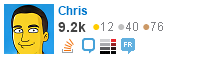 profile for Chris on Stack Exchange, a network of free, community-driven Q&A sites