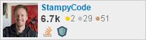 profile for StampyCode on Stack Exchange, a network of free, community-driven Q&A sites