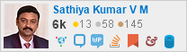 profile for Sathiya Kumar on Stack Exchange, a network of free, community-driven Q&A sites