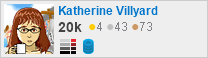 profile for Katherine Villyard on Stack Exchange, a network of free, community-driven Q&A sites