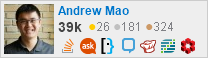 profile for Andrew Mao on Stack Exchange, a network of free, community-driven Q&A sites