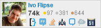 profile for Ivo Flipse on Stack Exchange, a network of free, community-driven Q&A sites