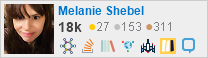 profile for Melanie Shebel on Stack Exchange, a network of free, community-driven Q&A sites