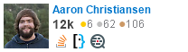 profile for Aaron Christiansen on Stack Exchange, a network of free, community-driven Q&A sites