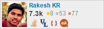 profile for Rakesh KR on Stack Exchange, a network of free, community-driven Q&A sites