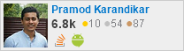 profile for Pramod Karandikar on Stack Exchange, a network of free, community-driven Q&A sites