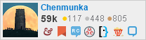 profile for Chenmunka on Stack Exchange, a network of free, community-driven Q&A sites