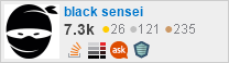 profile for black sensei on Stack Exchange, a network of free, community-driven Q&A sites