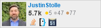 profile for JustinStolle on Stack Exchange, a network of free, community-driven Q&A sites