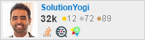 profile for SolutionYogi on Stack Exchange, a network of free, community-driven Q&A sites