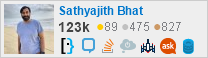 profile for Sathya on Stack Exchange, a network of free, community-driven Q&A sites