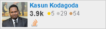 profile for Kasun Kodagoda on Stack Exchange, a network of free, community-driven Q&A sites