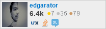 profile for edgarator on Stack Exchange, a network of free, community-driven Q&A sites