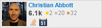 profile for Christian Abbott on Stack Exchange
