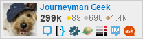 profile for Journeyman Geek on Stack Exchange,a network of free, community-driven Q&A sites