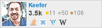 profile for Keefer on Stack Exchange, a network of free, community-driven Q&A sites