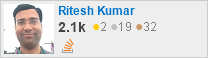 profile for Ritesh Kumar on Stack Exchange, a network of free, community-driven Q&A sites