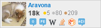 profile for Aravona on Stack Exchange, a network of free, community-driven Q&A sites