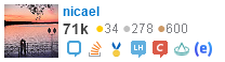 profile for nicael on Stack Exchange, a network of free, community-driven Q&A sites