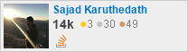 profile for Sajad Karuthedath on Stack Exchange, a network of free, community-driven Q&A sites