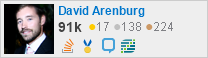profile for David Arenburg on Stack Exchange, a network of free, community-driven Q&A sites