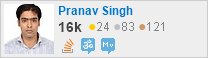 profile for Pranav Singh on Stack Exchange, a network of free, community-driven Q&A sites