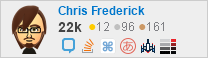 profile for Chris Frederick on Stack Exchange, a network of free, community-driven Q&A sites