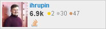 profile for ihrupin on Stack Exchange, a network of free, community-driven Q&A sites