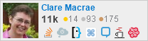 profile for Clare Macrae on Stack Exchange, a network of free, community-driven Q&A sites