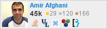 profile for Amir Afghani on Stack Exchange, a network of free, community-driven Q&A sites