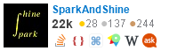 profile for sparkandshine on Stack Exchange, a network of free, community-driven Q&A sites