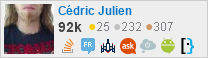 profile for Cédric Julien on Stack Exchange, a network of free, community-driven Q&A sites